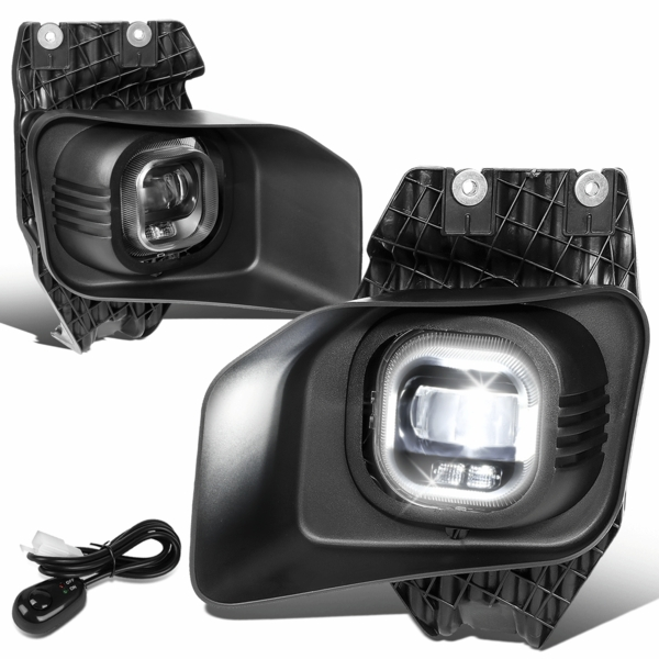 11-16 Ford F250-F550 Super Duty Clear Lens Projector LED Fog Light w/Switch