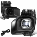 11-16 Ford F250-F550 Super Duty Smoked Lens Projector LED Fog Light w/Switch