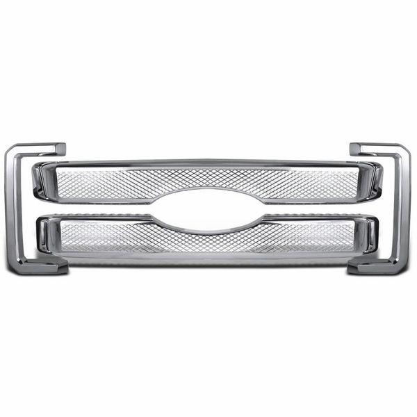 11-16 Ford F250 Super Duty Chrome Platinum Hood Grille Grill Overlay Cover 4PC