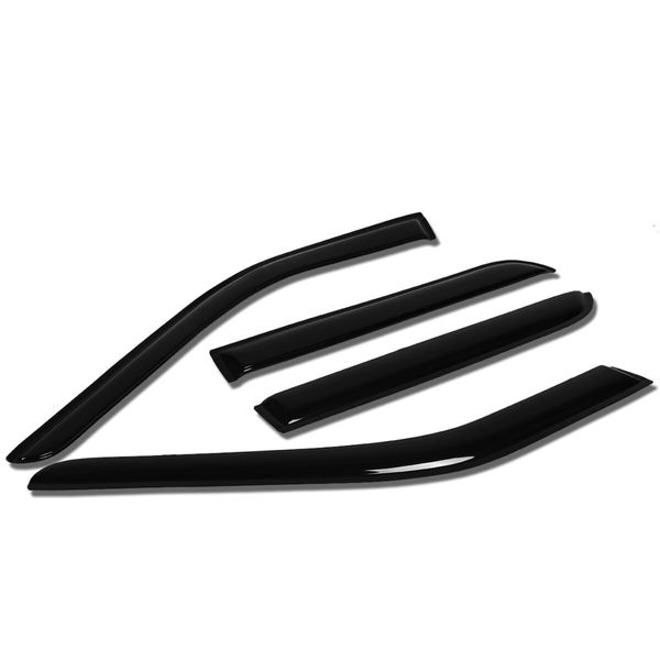 11-17 Ford Explorer U502 4pcs Window Vent Visor Deflector Rain Guard (Dark Smoke)