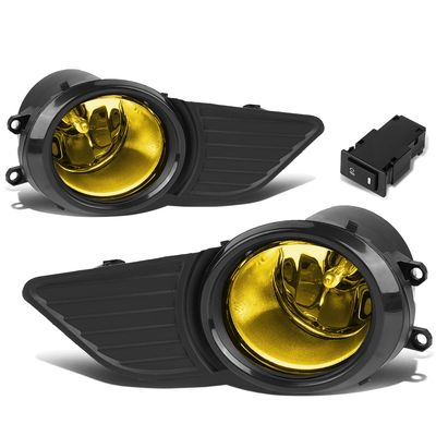 11-17 Toyota Sienna Pair of Bumper Driving LED DRL Fog Lights - Amber