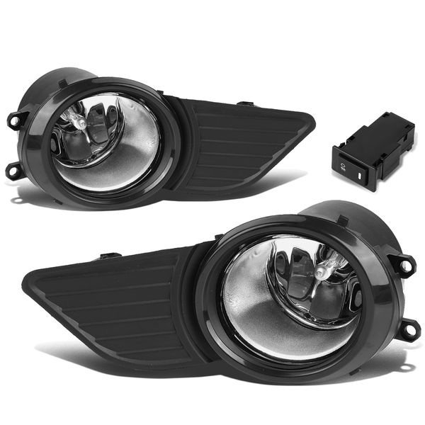 11-17 Toyota Sienna Pair of Bumper Driving LED DRL Fog Lights - Clear