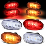 11-18 Ford Super Duty Dually Bed Side Fender LED Marker Cab Light 4Pcs Clear