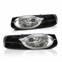 12-13 Honda Civic Coupe Fog Lights Assembly Clear Lamps w/Switch&Wring Kit