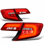 12-14 Toyota Camry 3D LED Tube Tail Lights - Red Clear