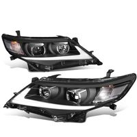 12-14 Toyota Camry LED DRL Tube Projector Headlights - Black