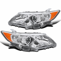 12-14 Toyota Camry SE Style Chrome Clear Projector Headlights