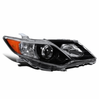 12-14 Toyota Camry SE Style Pearl Black Passenger Side Projector Headlight