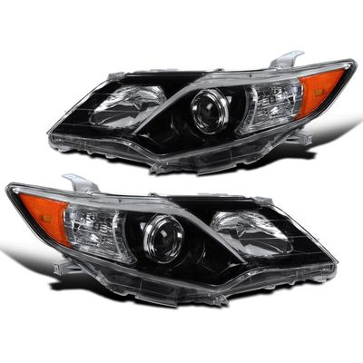 12-14 Toyota Camry SE Style Pearl Black Projector Headlights