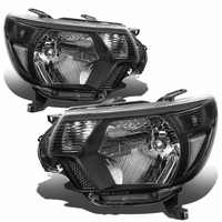 12-15 Toyota Tacoma Euro Crystal Replace Headlights - Black Clear