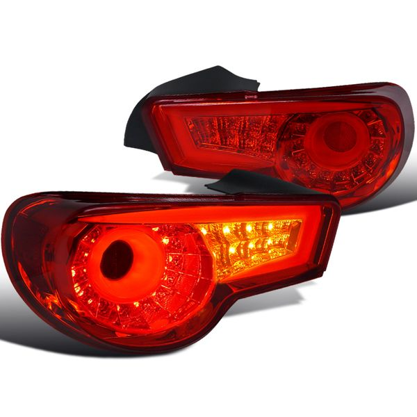 12-16 Scion FR-S / 86 / BRZ LED Tube Sequential Signal Tail Lights - Red