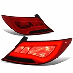 12-17 Hyundai Accent 4DR Sedan 3D LED Tube Tail Lights - Red Smoked