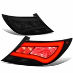 12-17 Hyundai Accent 4DR Sedan 3D LED Tube Tail Lights - Smoked