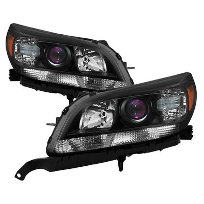 13-15 Chevy Malibu OE Style Projector Headlights - Black