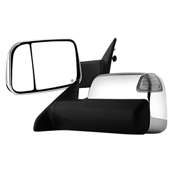 For 09-17 Ram 1500//2500//3500 Power//Heated Defrost Amber Signal Towing Mirrors