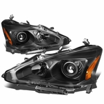 13-15 Nissan Altima [Halogen Model Only] OE-Style Replacement Headlights  - Black / Amber