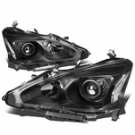 13-15 Nissan Altima [Halogen Model Only] OE-Style Replacement Headlights  - Black / Clear