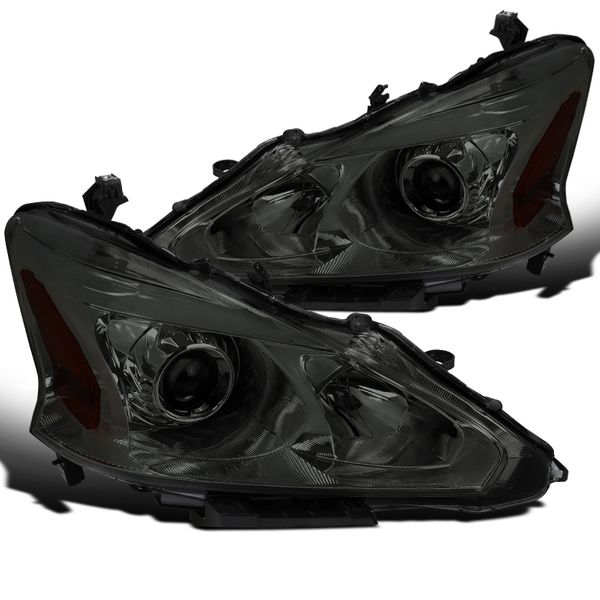 13-15 Nissan Altima Sedan Projector Headlights - Smoked