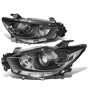13-16 Mazda CX5 Replacement Projector Headlights - Black / Clear