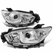 13-16 Mazda CX5 Replacement Projector Headlights - Chrome / Clear