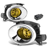 13-16 Nissan Pathfinder R52 Pair of Chrome Cover Amber Lens Bumper Driving Fog lights Lamps + Switch
