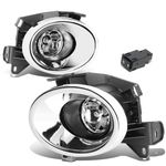 13-16 Nissan Pathfinder R52 Pair of Chrome Cover Clear Lens Bumper Driving Fog lights Lamps + Switch