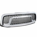 13-18 Dodge RAM 1500 Honeycomb Front Bumper Rebel Style Front Grill - Chrome