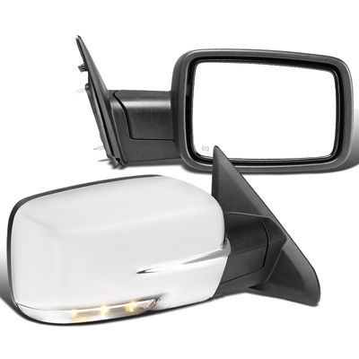13-19 Ram Chrome Power Fold / Heated / LED Signal / Puddle Side Mirrors Pair