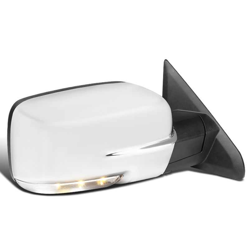 13 19 Ram Chrome Power Fold Heated Led Signal Puddle Side Mirrors Right Passenger Side