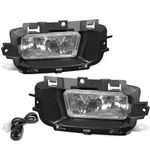 14-15 Chevy Silverado 1500 K2XX Pair of Bumper Driving Fog Lights + Switch (Clear Lens)