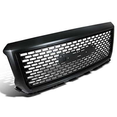 2014-2015 GMC Sierra 1500 1 PC Style ABS Matte Black Front Grille Hood Grill