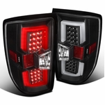 14-17 Chevy Silverado 1500 / 15-17 2500HD Full LED Replacement Tail Lights - Stealth Black
