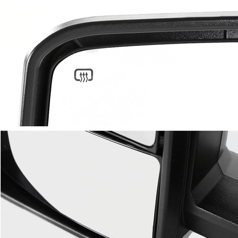 OCPTY Rearview Mirrors Power Heated Towing Mirrors for 2014-2018 Chevy Silverado 2014-2018 GMC Sierra with Black Housing