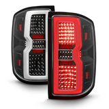 2014-2017 Chevy Silverado 1500 2500 [Sequential Signal] LED Tail Lights-Black