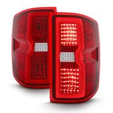 2014-2017 Chevy Silverado 1500 2500 [Sequential Signal] LED Tail Lights - Red