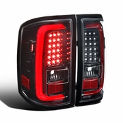 14-17 GMC Sierra 1500 2500HD 3500HD LED Tail Brake Lights - Gloss Black