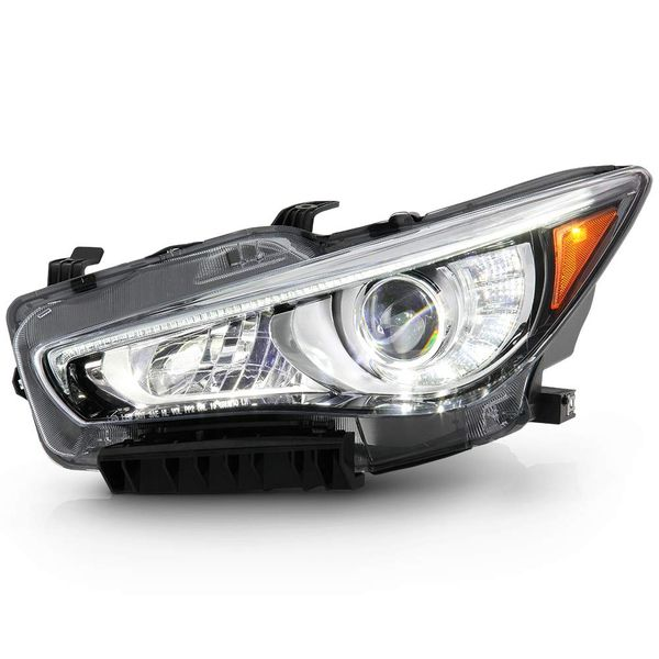 14-17 Infiniti Q50 [No AFS] LED DRL Replacement Headlight - Driver Left Side