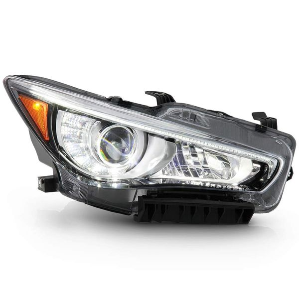 14-17 Infiniti Q50 [No AFS] LED DRL Replacement Headlight - Passenger Right Side
