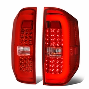 14-19 Toyota Tundra 3D LED Tube Tail Lights - Red