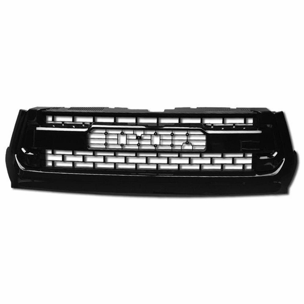 14-18 Toyota Tundra Glossy Black TR-D Style Front Hood Bumper Grill Grille