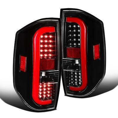 14-19 Toyota Tundra Optic LED Tail Lights - Pearl Black