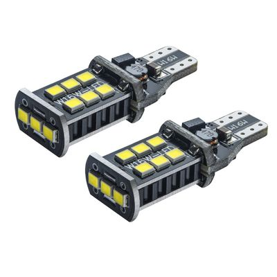 1400LM T15 T10 LED  Bulb High Power 6000K White 15 SMD Canbus Pair 2835