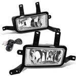 15-16 Chevy Tahoe / Yukon / XL Pair of Bumper Driving Fog Lights+Switch (Clear Lens)