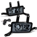 15-16 Chevy Tahoe / Yukon / XL Pair of Bumper Driving Fog Lights+Switch (Smoked Lens)
