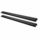 15-17 Chevy Colorado/Canyon Crew 5-inch Matte Blk Aluminum Step Bar Rail Running Boards