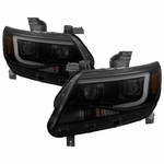 15-17 Chevy Colorado Dual Projector LED DRL Headlights - Black Smoked