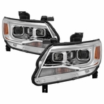 15-19 Chevy Colorado Dual Projector LED DRL Headlights - Chrome