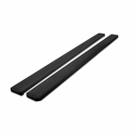 15-17 Chevy Colorado / GMC Canyon Crew Cab 5-inch Polished Black Aluminum Side Step Nerf Bars