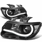 15-19 Chevy Colorado LED Tube Projector Headlights - Black Clear