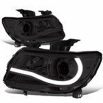 15-17 Chevy Colorado LED Tube Projector Headlights - Smoked Clear